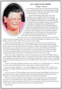 Mariam Perrem Obituary