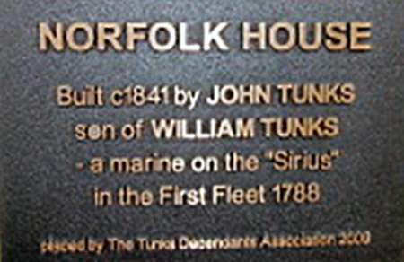 Norfolk House Plaque