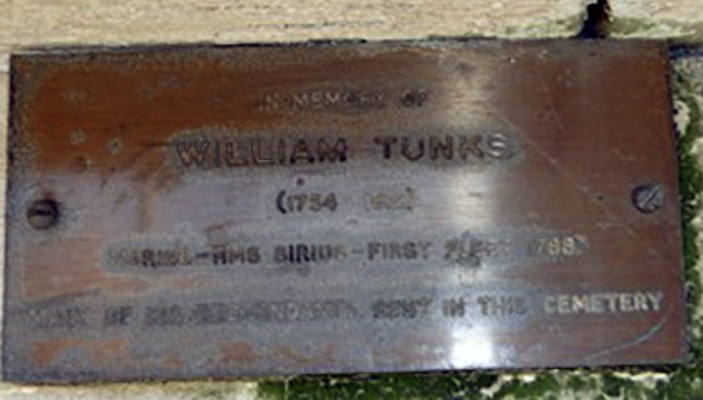 William Tunks Plaque