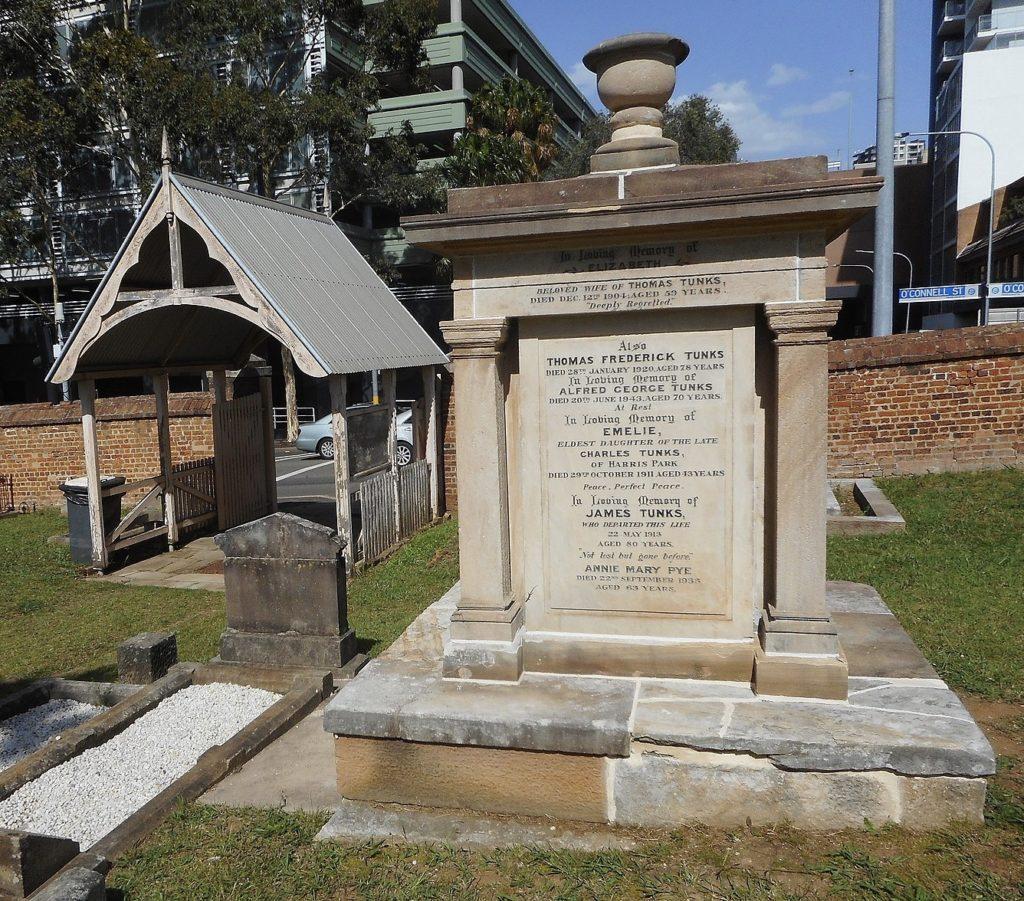 Tunks Monument St John's Cemetery