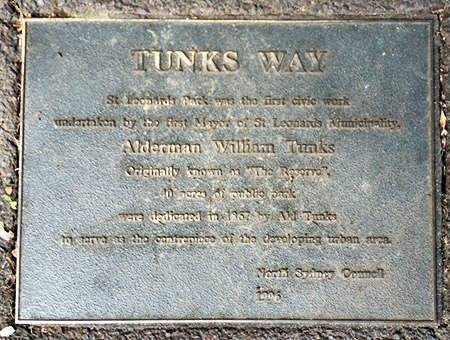 Tunks Way Plaque